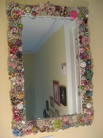 Как красиво задекорировать зеркало своими руками