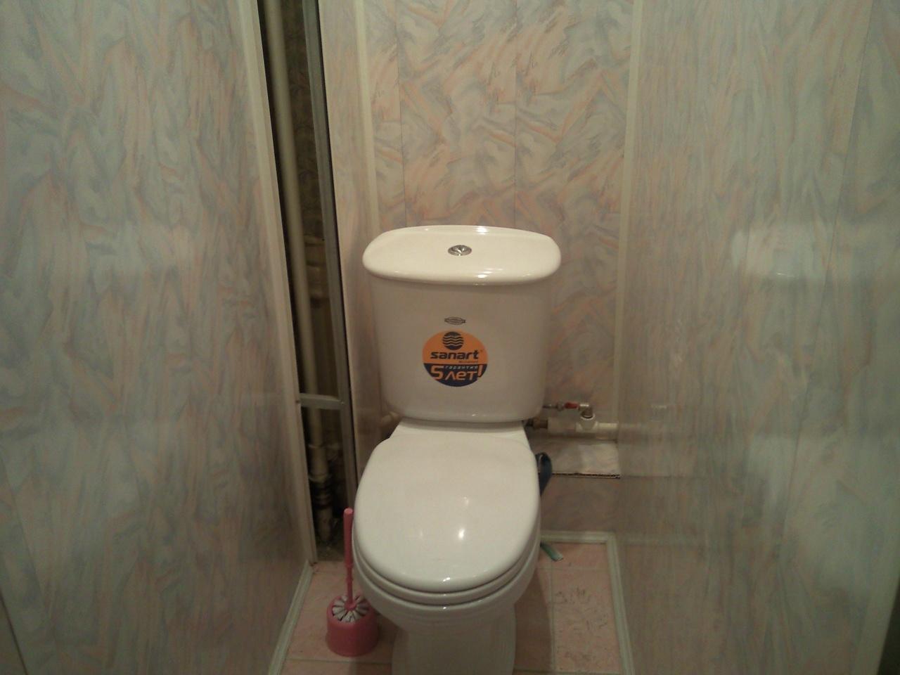 Ремонт туалета фото из панелей