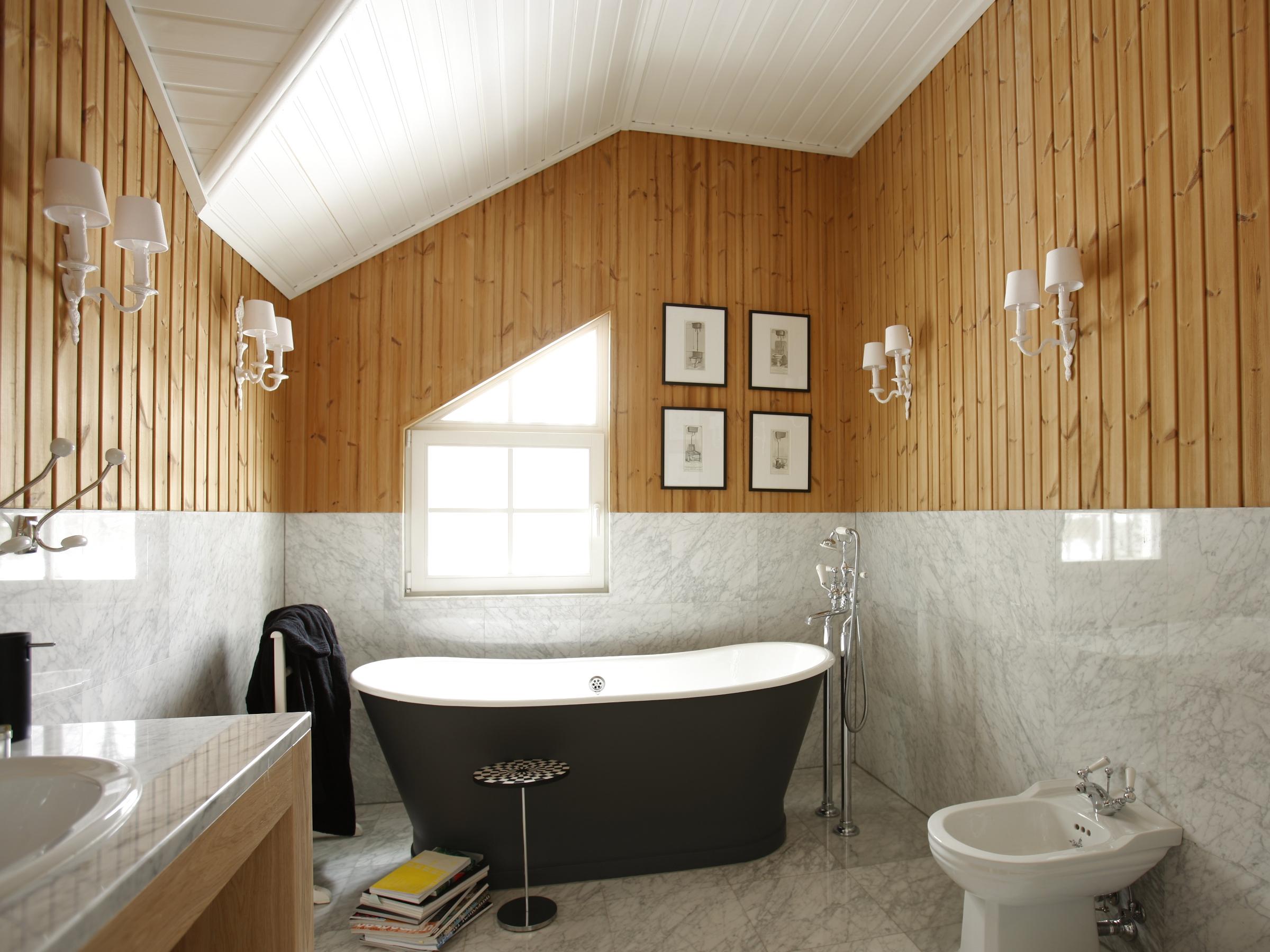Ванной комнаты из дерева своими руками