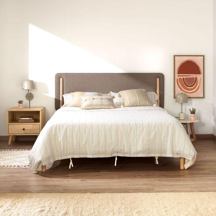 Двуспальная кровать с мягким изголовьем - SHAYNDEL